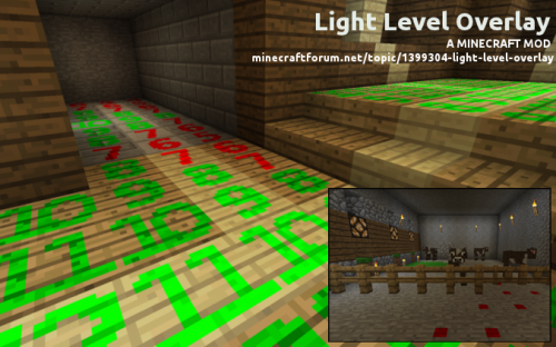 Мод Light Level Overlay Reloaded 1.8