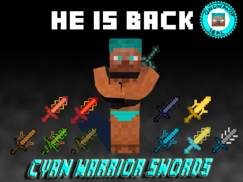 Cyan Warrior Swords 1.7.10 скачать