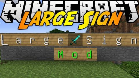 Large sign mod 1.7.10
